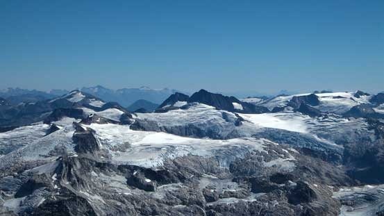 Peaks by Snowcap Icefield, another very remote area