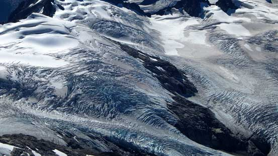 The very fractured Sphinx Glacier