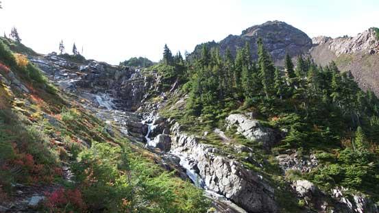 Waterfalls cascading down