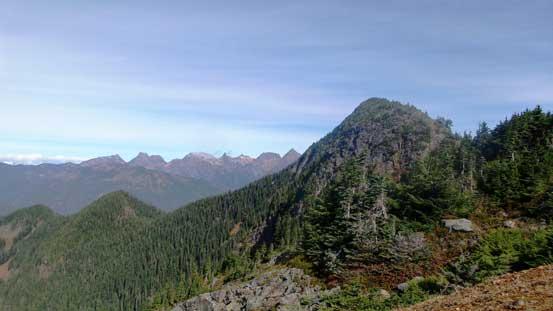 Mt. Pierce is this vegetated summit