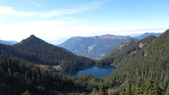 Looking down at Lower Pierce Lake