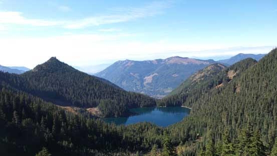 Looking down at Lower Pierce Lake