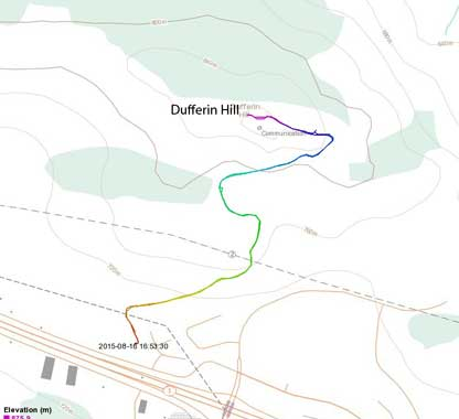 Mt. Dufferin (Dufferin Hill) hiking route