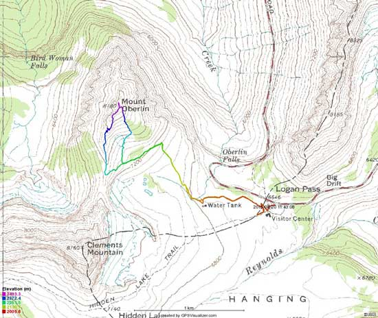 Mt. Oberlin scramble route