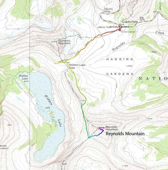 Reynolds Mountain scramble route