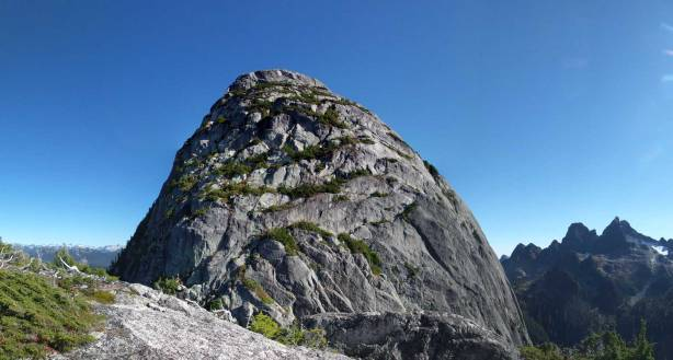 A wide panorama of the NW Face of Habrich. Click to view large size.