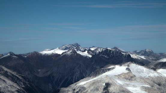 Wedge Mountain looking north. It's the highest in Garibaldi Park