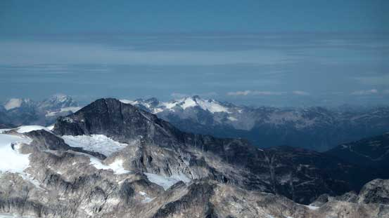 Mt. Davidson (left, foreground) is a remote summit
