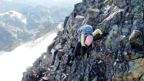 A bit of down-climb...