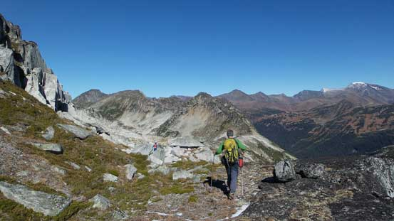 Arriving at the lower E. Ridge of Mt. Taillefer