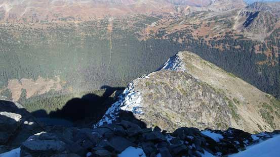 Looking down the NE Ridge