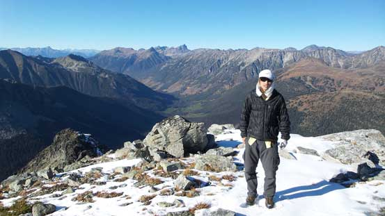 Me on the summit of Mt. Weinhold