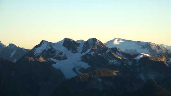 The triple summits of Birkenhead Peak