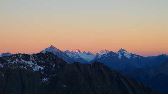 Evening glow on Mt. Matier in the distance