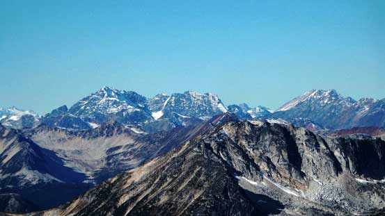 Mt. Sampson (L) and Sessel Mountain (R)