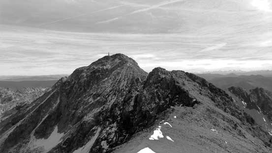 From the false summit, looking ahead