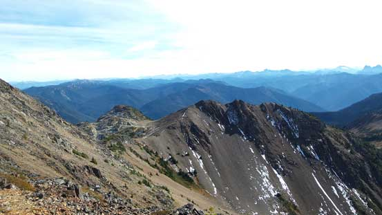 Looking over the S. Ridge shoulder