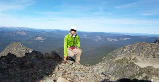 Me on the summit of Snass Mountain