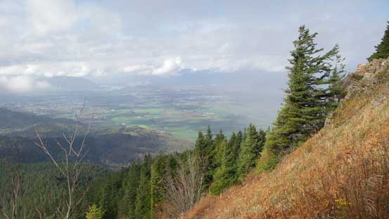 Started to get a view of Fraser Valley