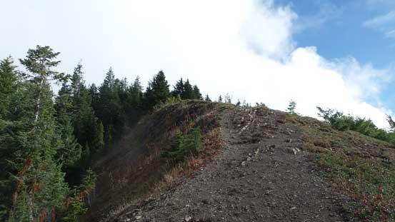 Following the ridge crest