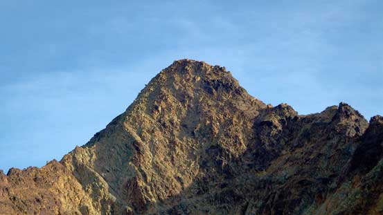 The summit block of South Twin. Route goes up the RHS ridge