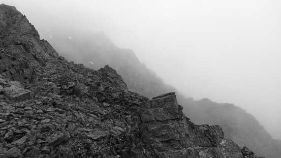 Upwards into the mist....