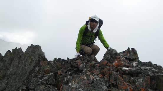 Me on the true summit of Modal Peak