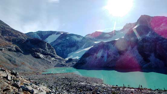 The classic shot of Wedgemount Lake