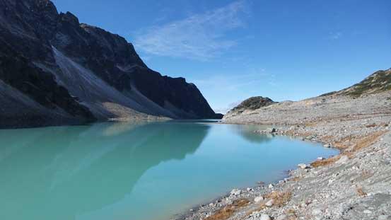 Circumventing Wedgemount Lake