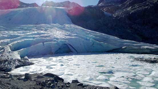 The toe of Wedgemount Glacier