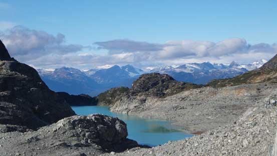 Another look back towards Wedgemount Lake