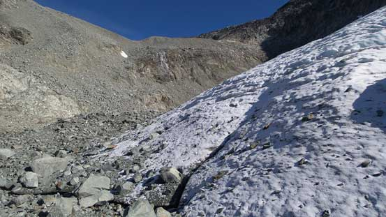 There's another glacier by this lower basin