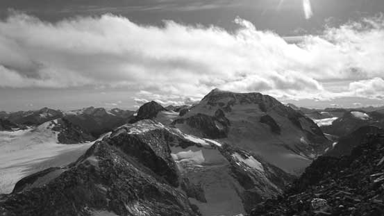 The bulky Wedge Mountain is one of the highest peaks in SW BC