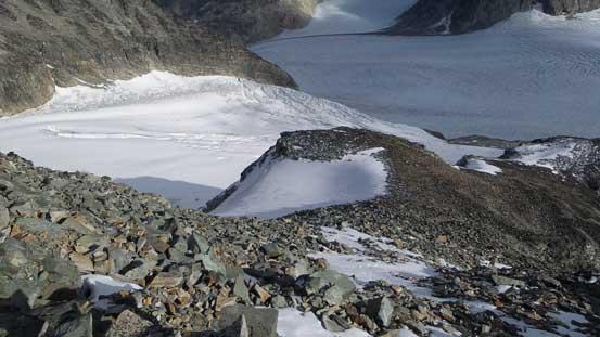 Looking down at the SE Ridge