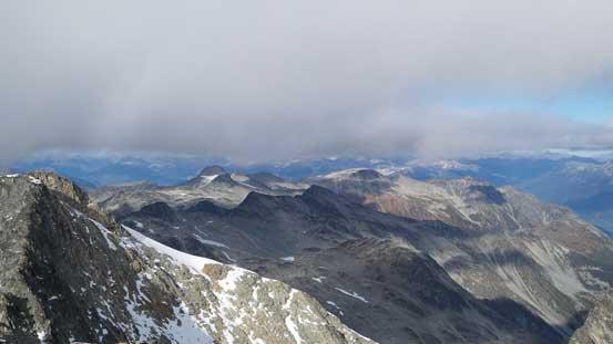 Peaks to the north. Hibachi Ridge left of center