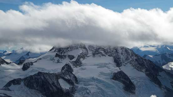 Another look at Wedge Mountain. Its NE Arete at center