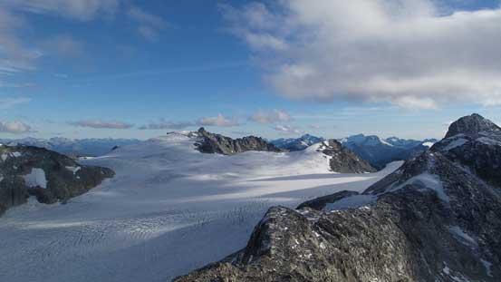 One last look at Weart Glacier. Mt. James Turner behind