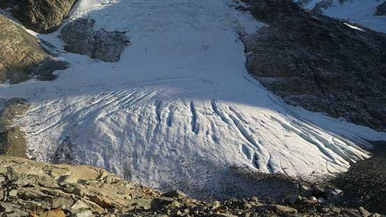 The upper glacier