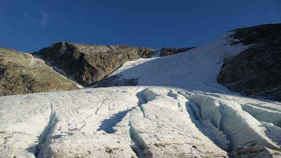 Down to the toe of this glacier