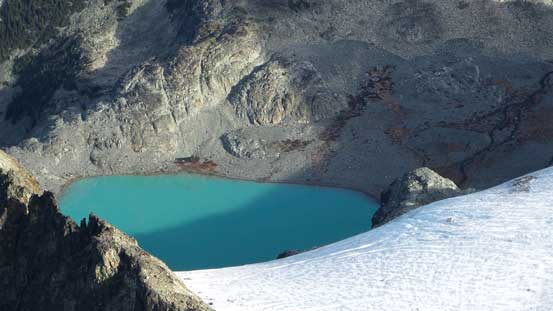 One of the few glacial lakes north of Mt. Cook