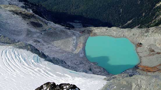 One of the few glacial lakes
