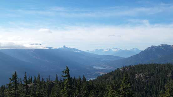 Open view down towards Whistler and the valley Sea-to-Sky Highway travels through
