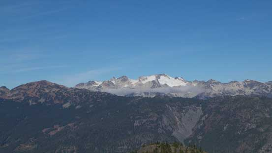 Ipsoot Mountain with Sootip Peak in front on left