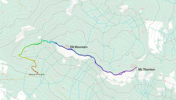 Elk to Thurston hiking route