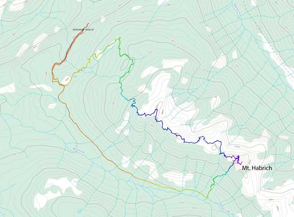 Mt. Habrich approach and ascent route
