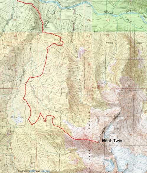 North Twin Sister scramble route