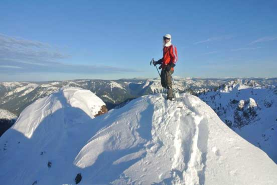 Me on the summit of Claimstake Mountain