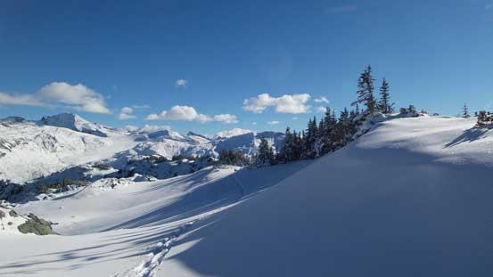 Pristine alpine terrain