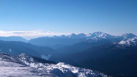 Looking south towards the Tantalus Range