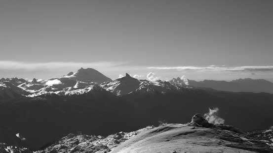 The mighty Mt. Garibaldi and the striking Black Tusk